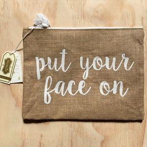 Mudpie Southern Bell Natural Makeup Bag